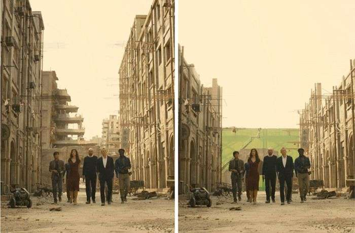 Кадри з «Джеймса Бонда» до і після накладення спецефектів (15 фото)