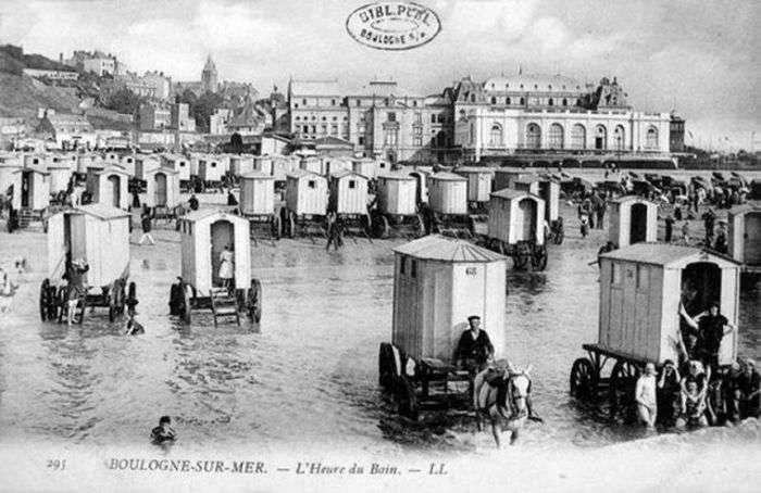 Купальні фургони - невідємна частина пляжів у XVIII і XIX століттях (8 фото)