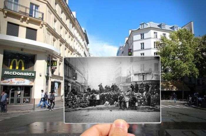 Прогулянка по вулицях Парижі в компанії ретро фотографій (16 фото)