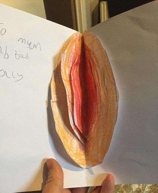 Забавна великодня листівка мамі (2 фото)