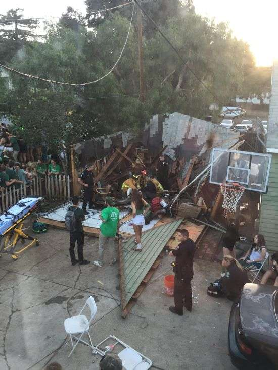 У Каліфорнії звалилася дах затьмарила студентську вечірку (4 фото + відео)