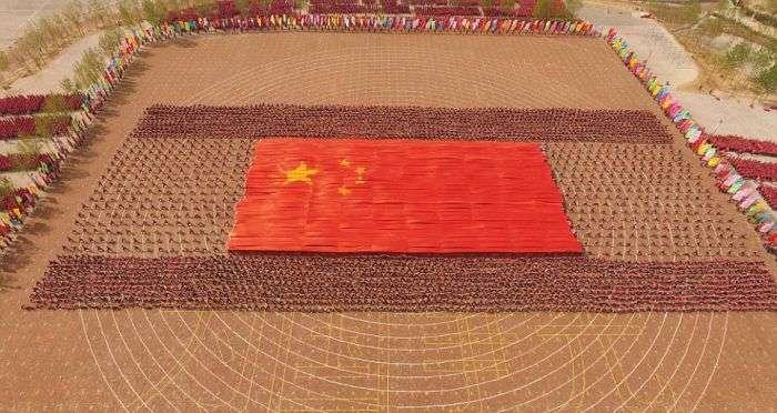 Масова тренування учнів школи кунг-фу Тагоу (8 фото)