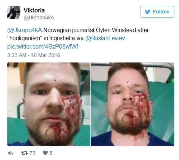 В Інгушетії невідомі напали на журналістів і правозахисників (2 фото + 2 відео)