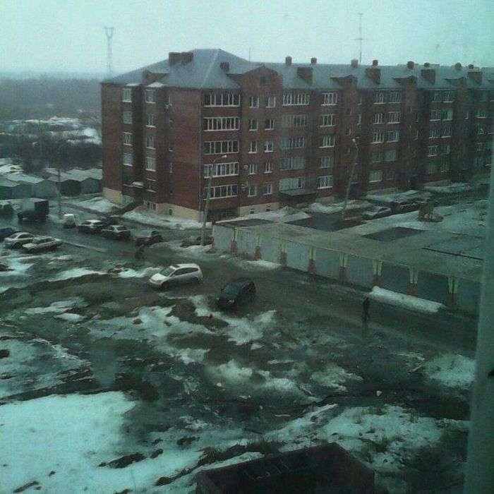 Омські дороги, двори і тротуари (22 фото)