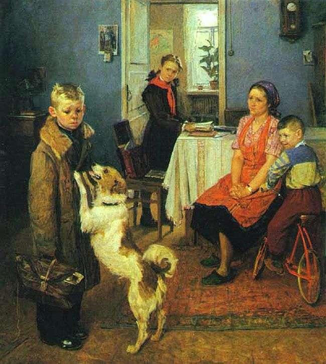 Виявляється, картина «Знову двійка» є лише частиною художнього триптиха Федора Решетнікова (3 фото)