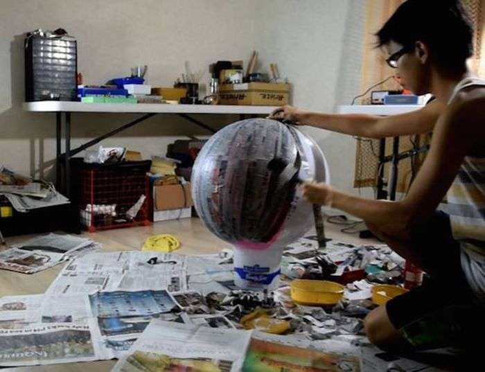 Філіппінський підліток зібрав копію робота BB-8 з «Зоряних воєн» (17 фото)