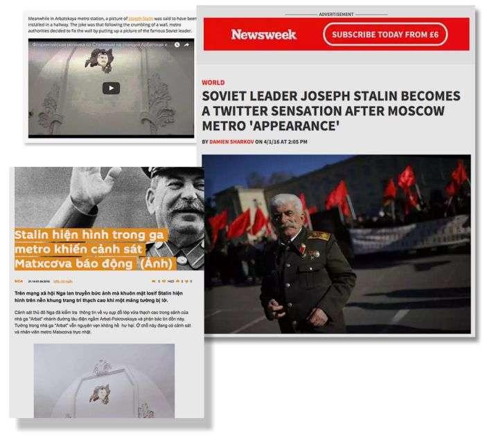 Як готували першоквітневий жарт з особою Сталіна в метро (13 фото + 4 відео)