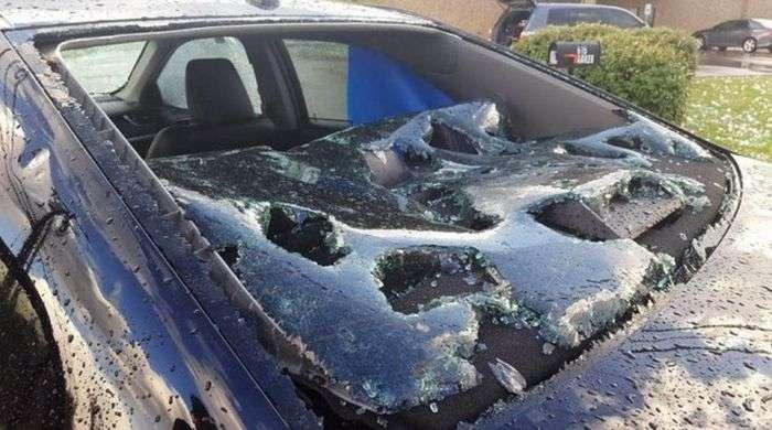 Техас постраждав від великого граду (11 фото)