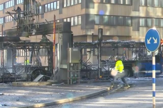 В центре Стокгольма взорвался автобус. МиР