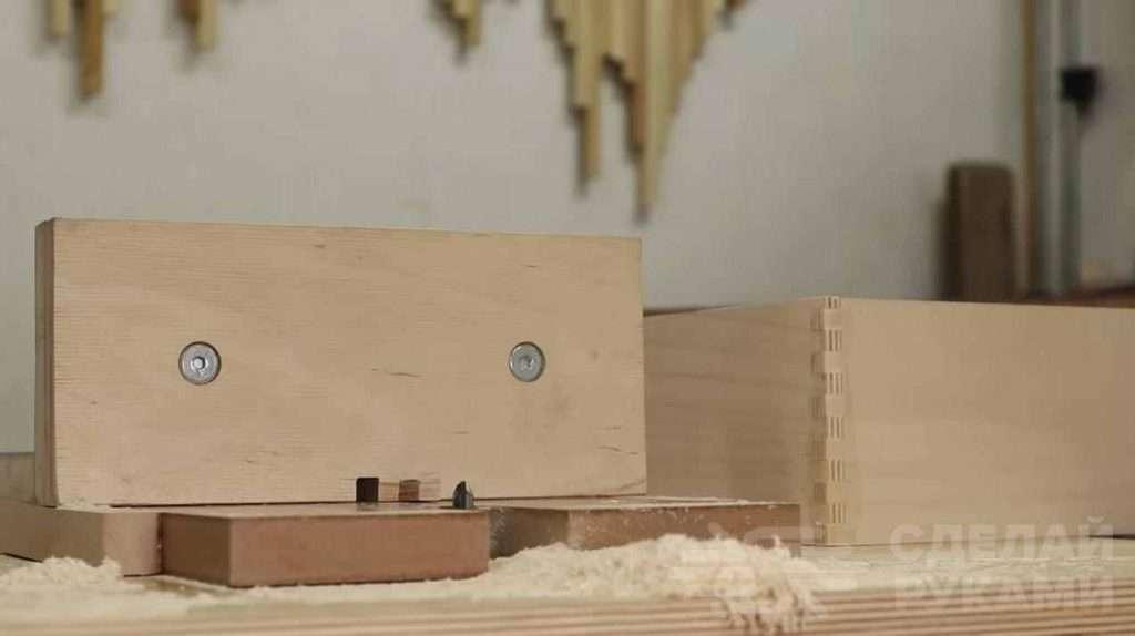 Простой самодельный кондуктор для ящичных соединений Самоделки