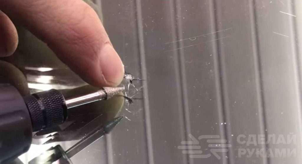 Как убрать сколы и трещины на стекле авто Самоделки