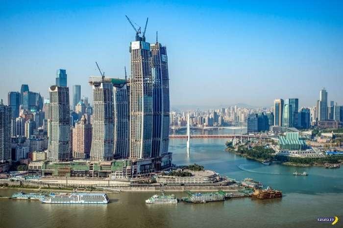В Китае заканчивают строительство «горизонтального небоскрёба» Интересное