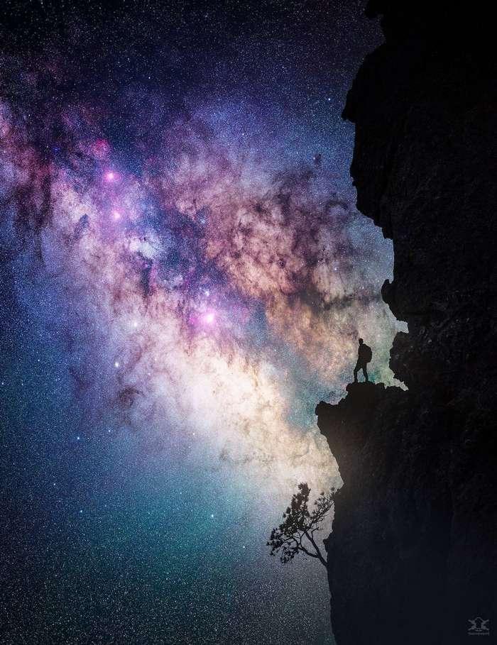 Фантастические ночные пейзажи, вдохновлённые космосом, звёздами и видеоиграми интересное