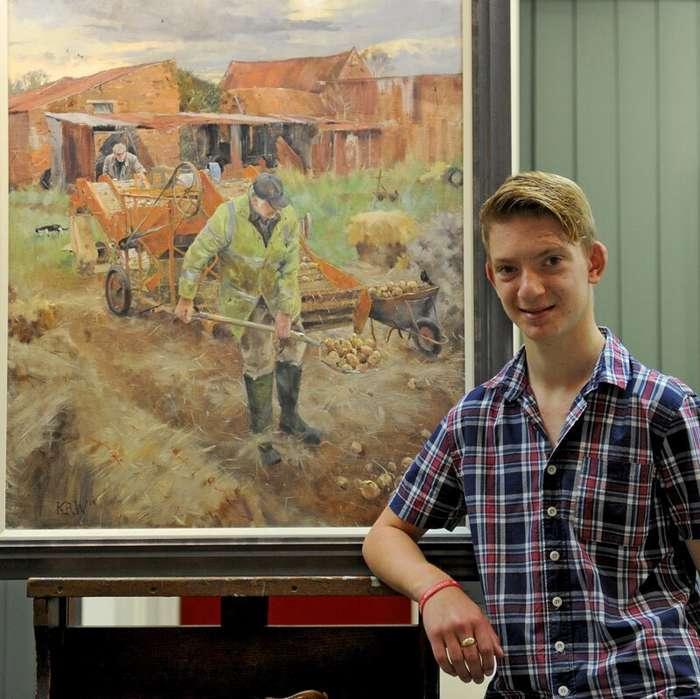 Мини-Моне: 16-летний импрессионист покорил рынок современного искусства Интересное
