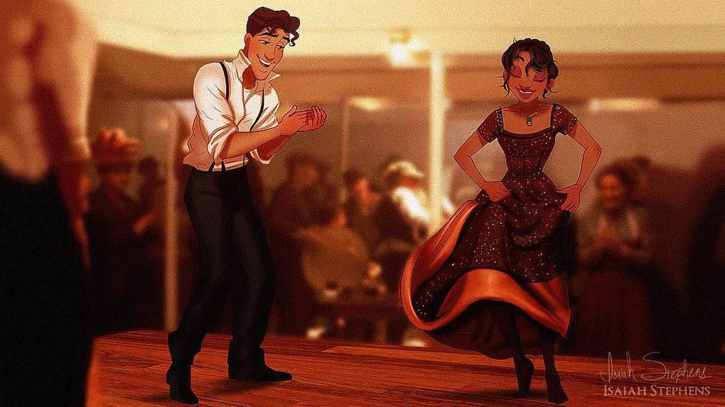 Арт-фантазии: как выглядели бы персонажи Диснея на Титанике Искусство