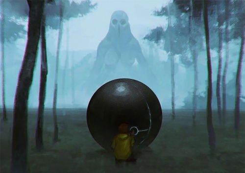 Таинственный и пугающий мир хоррор-иллюстратора Mozza