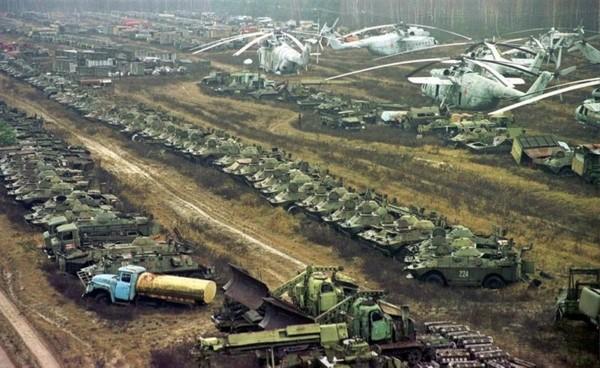 Чернобыль: куда пропала вся техника авария