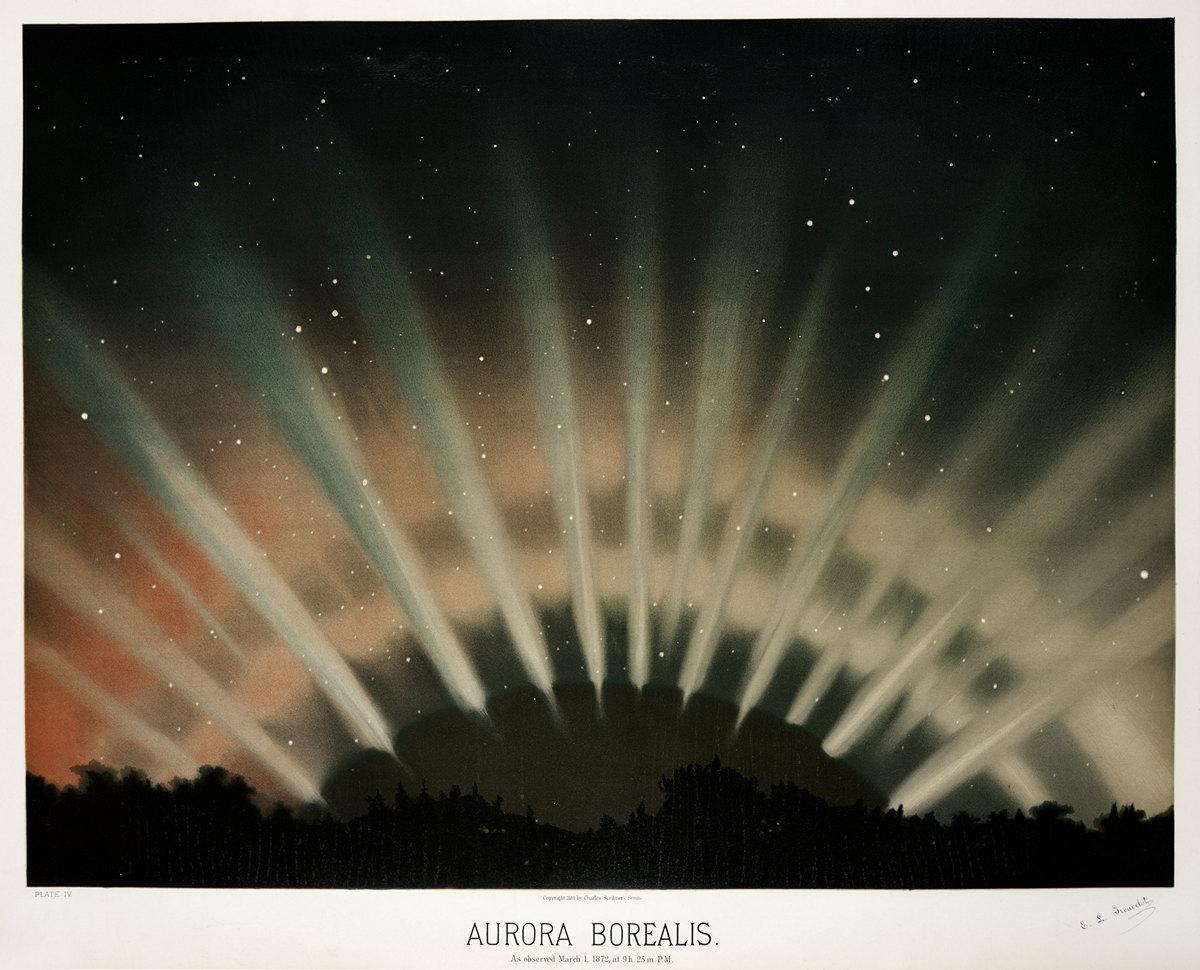 Старинные астрономические рисунки Этьена Трувело