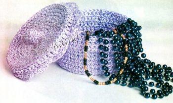 Круглые вязаные крючком шкатулки вязание крючком