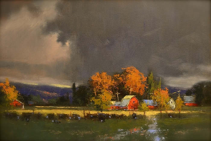Деревенские пейзажи на эмоциональных картинах с мощной энергетикой Живопись