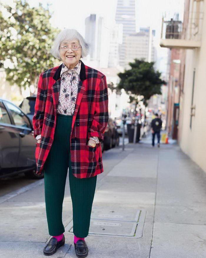 Мода пенсионеров Чайнатауна Сан-Франциско интересное
