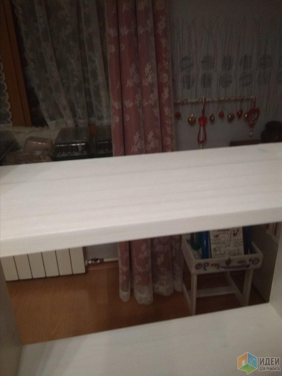 Шкафчик в ванную комнату из сосновых щитов идеи