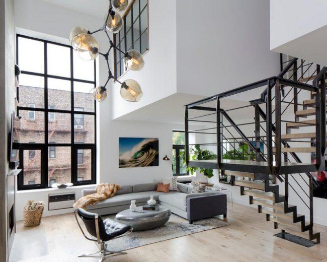 Двухуровневая квартира или как круто обустроить интерьер двухуровневая